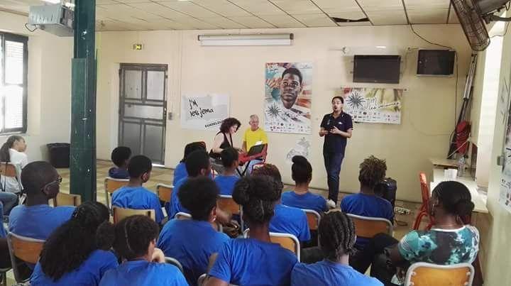 Masterclass de Fabrice di Falco pour le rectorat Antilles Guyanepour