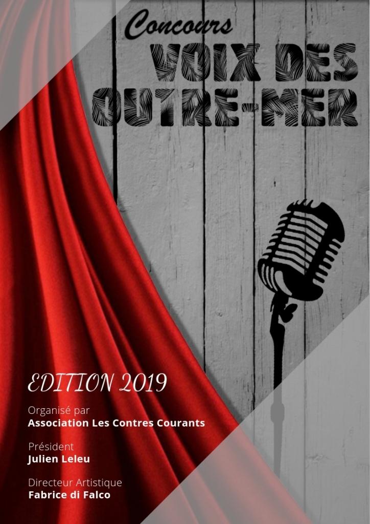 Affiche du Concours Voix des Outre mer 2019